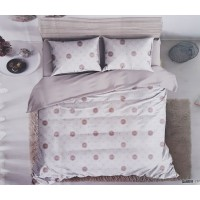 WHITE BASE ABSTRACT PRINTED DOUBLE BED PURE COTTON BEDSHEET WITH 2 PILLOW COVERS