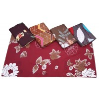 Floral 5D Reactive Printed Soft Glace Cotton Double Bedsheet With 2 Pillow Covers Set