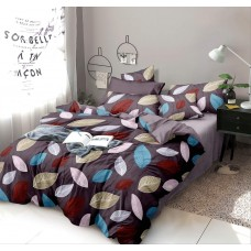 5D Floral Designer Printed Glace Cotton Bedsheet For Double Bed With 2 Pillow Covers Set