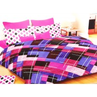 Multi Colour Abstract Design Pure Cotton Bedsheet With 2 Pillow Covers For Double Bed