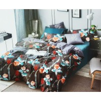 Pure Cotton Colorful Floral Printed Double Bed sheet With 2 Pillow Covers