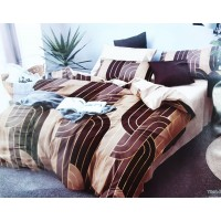 Premium Pure Cotton King Size Modern Design Bedsheet With 2 Pillow Covers - 10X10 Feet