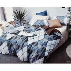 Curv Triangle pattern King Size Pure Cotton Bedsheet With 2 Pillow Covers - 10X10 Feet