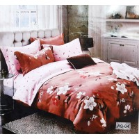 Floral Dark Premium Double Bedsheet With 2 Pillow Covers For Double Bed