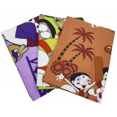 ASSORTED PURE COTTON DOUBLE BED CARTOON BEDSHEET WITH 2 PILLOW COVERS