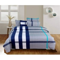 Luxury Cotton Abstract Designer Besheet With 2 Matching Pillow Covers Set For Double Bed