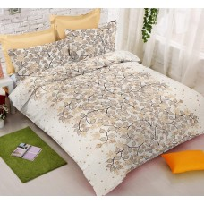 Elegant Floral Designer Pure Cotton Bedsheet With 2 Pillow Covers Set For Double Bed