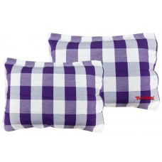 CHECKS POLY COTTON CLOTH  PILLOW CASE IN BRIGHT COLORS