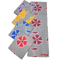 SINGLE BEDSHEET FLOWER DESIGN IN PURE COTTON WITH 2 PILLOW COVERS