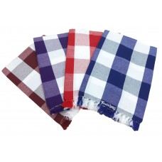 CHECKS DESIGN SINGLE BED HAND LOOM BEDSHEETS IN FILAMENT COTTON - PACK OF 4 BEDSHEETS
