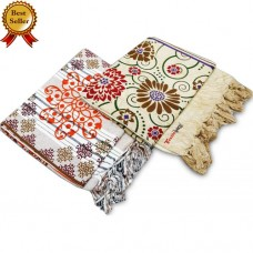 Cotton Single Bedsheet / Top Sheet in Exclusive Designs   - Pack of 2