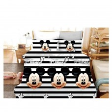 MICKY MOUSE 3D PRINTED COTTON SINGLE BEDSHEET WITH 1 PILLOW COVER SET
