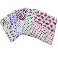 White Single Bedsheet in Polka Dots Small Design  / Soft Cotton Bedsheets Cum Topsheets  - Pack of 2
