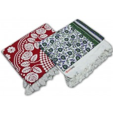 Best Quality Single Bedsheet 100% Cotton in Flower Design - Pack of 2