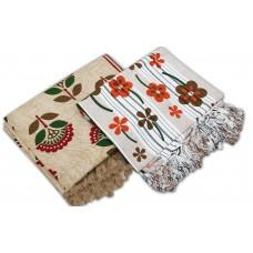 Cotton Single Bedsheet in Floral Design - Pack of 2