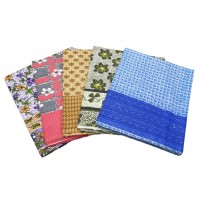 Pure Cotton Floral Multi Colour SIngle Top Sheet Bedsheets Pack Of 2 Pieces