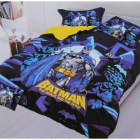 3D PRINTED BATMAN SINGLE BEDSHEET WITH 1 PILLOW COVER SET