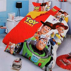 TOY STORY CARTOON PRINTED SINGLE BED BEDSHEET WITH 1 PILLOW COVER