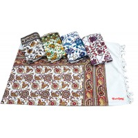Famous Kalamkari Design Pure Cotton Bedhseet With 2 Pillow Covers Set - Pack Of 1