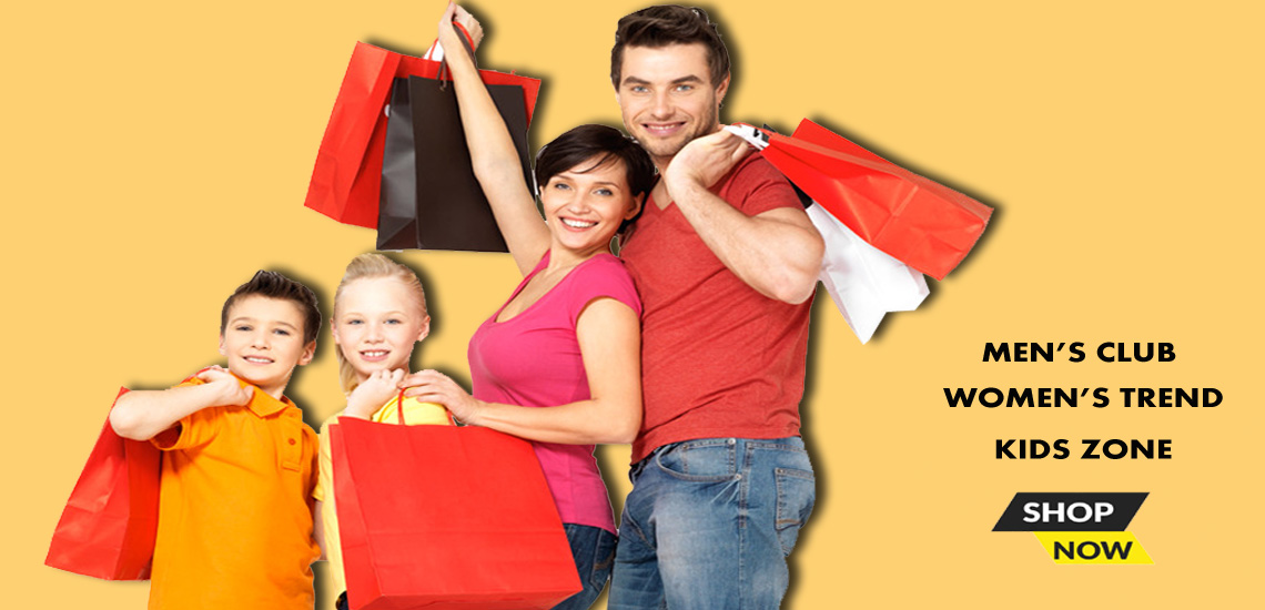 family shopping banner