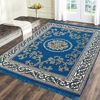 Big Size Beautiful Weaved Chennile Carpet in Attractive Colors / Exclusive Soft Carpets 6 * 9 - Pack of 1