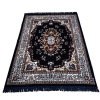 Velvet Handmade Blue Colored Persian Carpet Rug For Living Room/Hall/Bedroom 5 Ft x 7 Ft