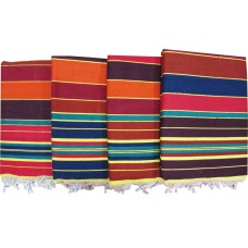 Traditional Linning Solapur Carpet / Satranji / Jamkhana /Bhavani carpet in Multicolours - Set of 4 pcs