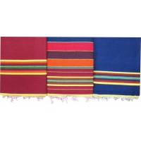 COTTON CARPET SET OF 3 / SOLAPUR SATRANJI AT DISCOUNT