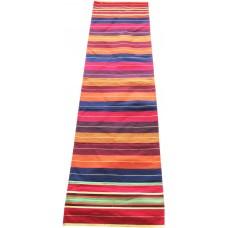 Satranji / Carpet in Colourful Strips in Pure Cotton / Set of 2 Pieces / Bhojan patti