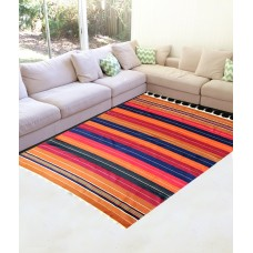 "LINNING PATTERN SATRANJI CARPET / SIZE 6""X 9"" COTTON CARPET /MULTIPURPOSE PRODUCT - SET OF 10"