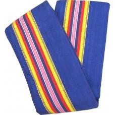 Thick Hall Satranji / Carpet in Cotton , 10* 15 Ceremony Satranji in blue