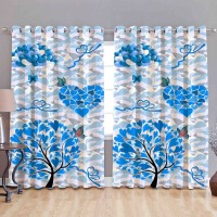 Tree with heart design leaves window curtain, minimum order 2 pieces