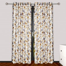 Flower print brown grey door curtain Minimum 2 pieces