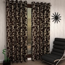 Brown Color Window Curtains in Floral Design / Best Quality Curtains Minimum order 2 pieces