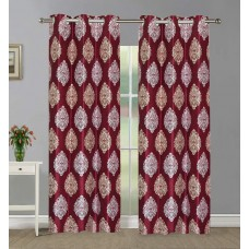Red  Color Window Curtains in Floral Design / Best Quality Curtains Minimum order 2 pieces