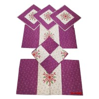 EMBROIDERY PURE COTTON EXCLUSIVE DESIGNER DIWAN SET - PACK OF 6 PIECES