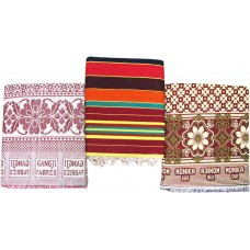MIX PACKAGE OF COTTON SOLAPURI CHADDAR AND LINNING CARPET  ( PACK OF 3 )