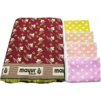 SOLAPURI MAYUR CHADDAR AND 4 TURKISH COTTON NAPKINS SET IN OFFER ( PACK OF 5)