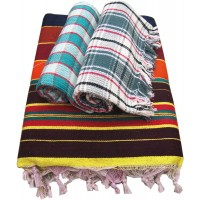 COTTON SOLAPURI LINNING CARPET AND 2 CHECKS COTTON TOWELS ( PACK OF 3 ) AT OFFER