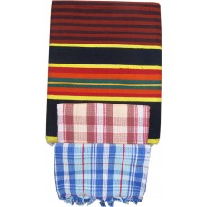 OFFER PRICE CHECKS COTTON TOWELS AND 100% COTTON LINNING CARPET IN BLUE ( PACK OF 3 )