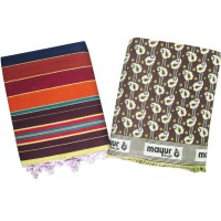 LINNING SATRANJI / CARPET AND MAYUR PANKH BLANKET IN PURE COTTON- PACK OF 2