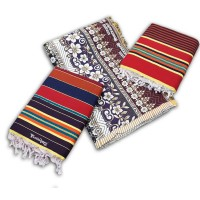 BEAUTIFUL THICK CHADDAR CUM BLANKET IN FLORAL DESIGN AND LINNING CARPETS IN COTTON - PACK OF 3