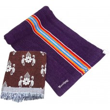 Plain Velvet Satranji With Cotton Velvet Solapur Chaddar in Regular Size - Pack Of 2 Pieces