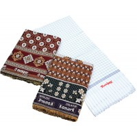 Solapur Authentic Design Cotton Chaddars With Light Weight Chaddar Cum Bedsheet  - Pack Of 3