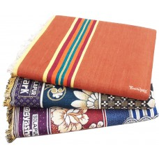 Plain Solapur Satranji With Solapur Chaddars At Best Price  Pack 3 Pieces For Single Bed