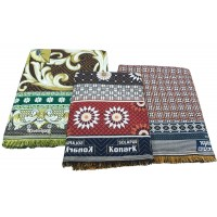 Pack Of 3 Jumbo Large And SIngle Size Thick Authentic Solapuri Pure Cotton Chaddar/Blanket