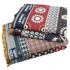 Pure Cotton Solapur Authentic Designer Large And Regular Size 4 Pieces Combo Chaddar/Blanket Set