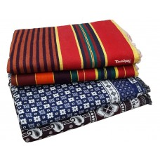 2 Pieces Pure Cotton Solapuri Small Design Cotton Blankets And 2 pieces Linning Cotton Satranji / Carpet - Pack Of 4