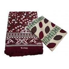Chenille Designer Galicha Carpet With Pure Cotton Floral Designer Single Bedsheet Set - Pack Of 2