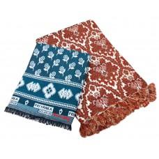 All Seasonable Multicolour Decorative Solapur Cotton Blankets/Chaddar/Galicha Combo 2 Piece Set